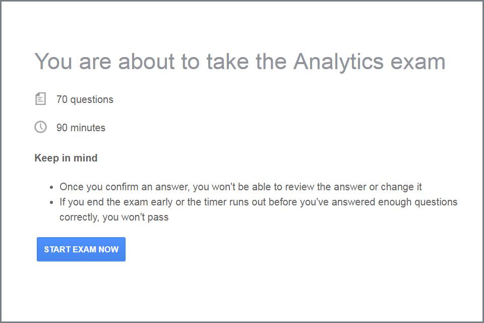 Google Analytics 認證考試(GAIQ)考試