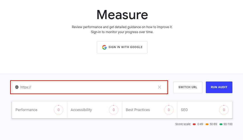 web.dev檢測頁面